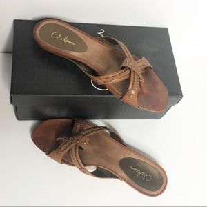 Cole Haan Air Neva Leather Thong Studded Sandals